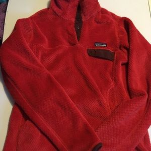 Patagonia Women Red pullover sweater size Small